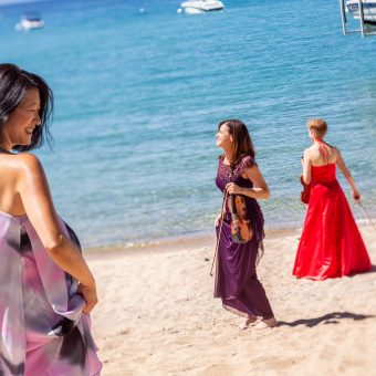 Classical Tahoe artists on the beach